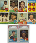 Baseball Cards:Lots, 1963 Topps Baseball Near Complete Set (574/576). Only the Pete Rose#537 and Bill Freehan's rookie card #466 are missing fr...