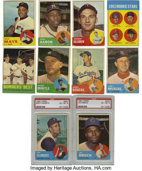 1963 Topps Baseball Near Complete Set 574576 Only The