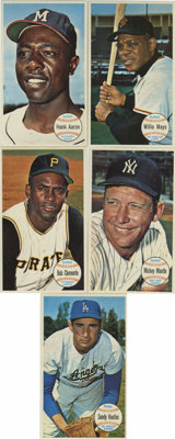1964 Topps Giants Complete Set (60). Complete set of the extremely attractive oversized Topps issue from 1964. Brilliant...