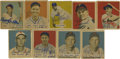 Autographs:Sports Cards, 1949 Bowman Baseball Signed Cards Group Lot of 9. Fine group of signed cards from one of Bowman's earliest baseball issues....