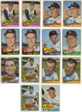 Autographs:Sports Cards, 1965 Topps Baseball Signed Cards Group Lot of 44. Great group lot of 44 signed cards is up for grabs here, with all cards co...