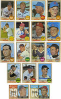 Autographs:Sports Cards, 1968 Topps Baseball Near Complete Set (594/598), 164 Signed. The1968 Topps baseball issue is represented here with this va...