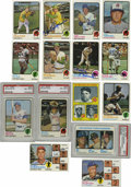 Autographs:Sports Cards, 1973 Topps Baseball Near Complete Set (649/660), 186 Signed. Nearcomplete (649/660) set of the 1973 Topps Baseball issue, ...