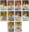 Autographs:Sports Cards, 1983 Big League Collectibles Diamond Classics Signed Cards GroupLot of 10. Group of 10 signed cards is offered here, each f...