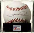 Autographs:Baseballs, Mario Andretti Single Signed Baseball, PSA Mint 9. Race legendmakes his desirable signature available on the offered ONL (...