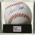 Autographs:Baseballs, Johnny Bench Single Signed Baseball, PSA Mint 9. Beautiful sweetspot sig from the Hall of Fame anchor of the legendary Big...