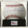 Autographs:Baseballs, Orlando Cepeda Single Signed Baseball, PSA Gem Mint 10. PuertoRican Hall of Fame slugger Orlando Cepeda has made it possi...