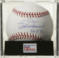 "Autographs:Baseballs, Bob Doerr ""HOF 86"" Single Signed Baseball, PSA Mint 9. Reference ismade to Bob Doerr's HOF inclusion with his fine single ..."