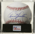 "Autographs:Baseballs, Dennis Eckersley ""1992 AL MVP"" Single Signed Baseball, PSA Mint+9.5. Dominant hurler Dennis Eckersley has left his impress..."