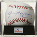 "Autographs:Baseballs, Julius ""Dr. J"" Erving Single Signed Baseball, PSA Mint 9. One ofbasketball's certified kings has checked in on the provide..."