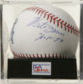"Autographs:Baseballs, Monte Irvin ""HOF 73"" Single Signed Baseball, PSA Mint+ 9.5. A starin both the Negro Leagues as well as the majors, Monte I..."