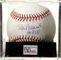 "Autographs:Baseballs, Stan Musial ""HOF 69"" Single Signed Baseball, PSA Mint 9. Stan theMan's date of Hall of Fame induction is mentioned on the s..."