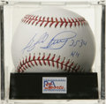 "Autographs:Baseballs, Gaylord Perry ""3534 Ks"" Single Signed Baseball, PSA Mint 9. Hall ofFame ball doctor Gaylord Perry makes mention to his inc..."