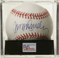 Autographs:Baseballs, Ryne Sandberg Single Signed Baseball, PSA Mint 9. Tremendouslypopular Chicago Cubs second baseman has added a perfect exam...