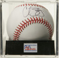 Autographs:Baseballs, Curt Schilling Single Signed Baseball, PSA Mint 9. Two-time WorldSeries hero Curt Schilling provides a high-quality sweet ...