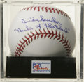 "Autographs:Baseballs, Duke Snider ""Duke of Flatbush"" Single Signed Baseball, PSA Gem Mint10. Centerfield hero Duke Snider has applied an exquisi..."