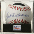 Autographs:Baseballs, Ted Williams Single Signed Baseball, PSA Mint 9. Splendid sweetspot sig from the scientific hitter Ted Williams. Ball has ...