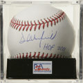 "Autographs:Baseballs, Dave Winfield ""HOF 2001"" Single Signed Baseball, PSA Gem Mint 10.Imposing five-tool behemoth Dave Winfield has signed this..."