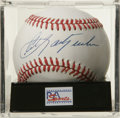 Autographs:Baseballs, Carl Yastrzemski Single Signed Baseball, PSA Mint 9. Ted Williams'left field replacement has allowed us to make this memen...