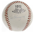 "Autographs:Baseballs, Ted Kluszewski Single Signed Baseball. Non-official ball offers a rare side panel single from ""Big Klu"" Ted Kluszewski, who..."