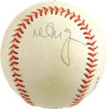 Autographs:Baseballs, Mark McGwire Single Signed Baseball. An even cream tone has begunto invade the skin of the ONL (Coleman) baseball we see h...