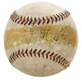 Autographs:Baseballs, Babe Ruth Signed Baseball. The Sultan of Swat himself graced thesweet spot of the official ball we offer here with his won...