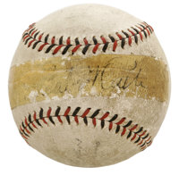 Babe Ruth Signed Baseball. The Sultan of Swat himself graced the sweet spot of the official ball we offer here with his...
