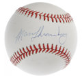 Autographs:Baseballs, Marv Throneberry Single Signed Baseball. Starting his career as ateammate of Mantle under the famed manager Casey Stengel,...