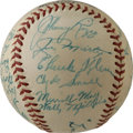 Autographs:Baseballs, 1940 Philadelphia Phillies Team Signed Baseball. Tremendouslypreserved ONL (Frick) baseball contains the blue ink signatur...