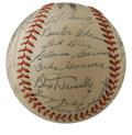 Autographs:Baseballs, 1945 St. Louis Cardinals Team Signed Baseball. Wedged between twoWorld Series winning Cardinals squads, the 1945 St. Louis...