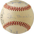 Autographs:Baseballs, 1948 St. Louis Cardinals Team Signed Baseball. Finishing second in the NL to the Boston Braves, the star-studded '48 St. Lo...