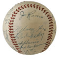 Autographs:Baseballs, 1953 Chicago White Sox Team Signed Baseball. Impressive OAL(Harridge) baseball comes to us via the 1953 Chicago White Sox ...