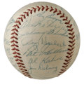 Autographs:Baseballs, 1953 Detroit Tigers Team Signed Baseball. OAL (Harridge) baseballwith thirty signatures from the 1953 Detroit Tigers lineu...