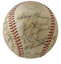 Autographs:Baseballs, 1958 Detroit Tigers Team Signed Baseball. Under the watchful eye ofmanager Bill Norman and coach Billy Hitchcock, the Detr...