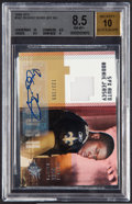 Football Collectibles:Uniforms, 2006 SPX Reggie Bush #187 Jersey Swatch & Autographed BGS-Graded Card. ...
