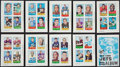 Football Cards:Sets, 1969 Topps 4 in 1 Football Cards (66) & Mini-Albums Complete Sets Pair (2). ...