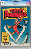 Golden Age (1938-1955):Funny Animal, Funny Animals #4 (Fawcett Publications, 1943) CGC VF- 7.5 White pages....