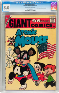 Giant Comics #1 (Charlton, 1957) CGC VF 8.0 Cream to off-white pages