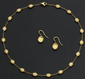 Estate Jewelry:Suites, Exceptional Marco Biego 18k Gold Necklace & Earrings. ...(Total: 2 Items)