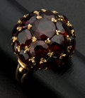 Estate Jewelry:Rings, 14k Gold & Garnet Dome Ring. ...