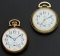 Timepieces:Pocket (post 1900), Elgin 19 Jewel B.W. Raymond & A 25 Jewel Waltham. ... (Total: 2Items)