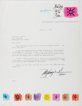 Autographs:Artists, Ted DeGrazia (1909-1982, American Artist). Typed Letter Signed.Very good....