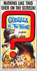 "Movie Posters:Science Fiction, Godzilla vs. the Thing (American International, 1964). Three Sheet(41"" X 79""). Science Fiction.. ..."