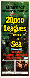 """Movie Posters:Science Fiction, 20,000 Leagues Under the Sea (Buena Vista, 1954). Insert (14"""" X 36""""). Science Fiction.. ..."""