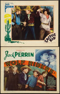 "Movie Posters:Western, Jack Perrin in Wolf Riders & Other Lot (William Steiner, 1935). Title Lobby Card (11"" X 14"") & Lobby Card (11"" X 14""). Weste... (Total: 2 Items)"