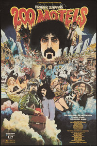"""200 Motels (United Artists, 1971). Poster (22"""" X 33""""). Rock and Roll"""