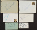 """Movie Posters:Western, Stagecoach Actors Lot (United Artists, 1939). Autographs (6) (2"""" X3.5"""" to 4.5"""" X 6""""), Reprints of lobby card (11"""" X 14""""),... (Total:9 Items)"""
