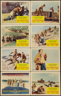 "Movie Posters:War, They Came to Cordura (Columbia, 1959). Lobby Card Set of 8 (11"" X14""). War.. ... (Total: 8 Items)"