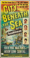 "Movie Posters:Action, City Beneath the Sea (Universal International, 1953). Three Sheet(41"" X 79""). Action.. ..."