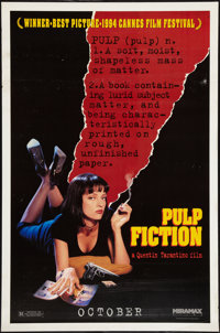 "Pulp Fiction (Miramax, 1994). One Sheet (27"" X 41"") Advance. Crime"